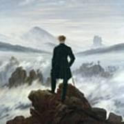 The Wanderer Above The Sea Of Fog Print by Caspar David Friedrich
