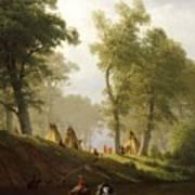 The Wolf River - Kansas Print by Albert Bierstadt