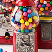 Three Bubble Gum Machines Print by Garry Gay