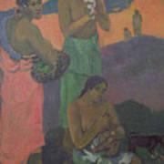 Three Women On The Seashore Print by Paul Gauguin