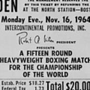 Ticket To World Championship Boxing Print by Everett