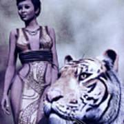 Tigress Print by Maynard Ellis