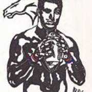 Tim Tebow 2 Print by Jeremiah Colley