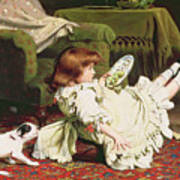 Time To Play Print by Charles Burton Barber