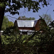 Tin Roofed Barn Print by Richard Gregurich