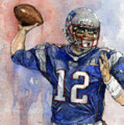 Tom Brady Print by Michael  Pattison