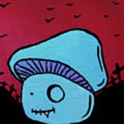 Toothed Zombie Mushroom Print by Jera Sky
