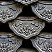 Traditional Korean Roof Tiiles Print by Alex Barlow