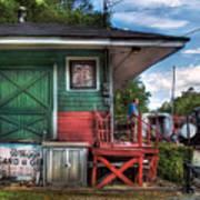 Train - Yard - The Train Station Print by Mike Savad