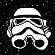 Trooper On Starry Sky Print by Jera Sky