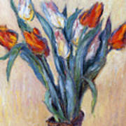 Tulips Print by Claude Monet