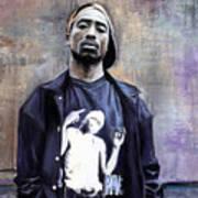 Tupac Shakur Print by Raymond L Warfield jr
