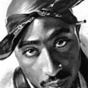 Tupac Shakur Print by Ylli Haruni
