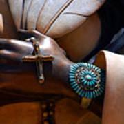 Turquoise Bracelet  Print by Susanne Van Hulst
