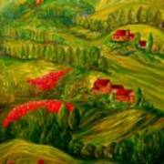 Tuscany At Dawn Print by Eloise Schneider