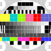 Tv Multicolor Signal Test Pattern Print by Aloysius Patrimonio