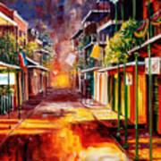 Twilight In New Orleans Print by Diane Millsap