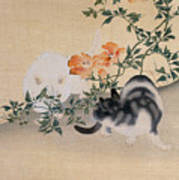 Two Cats Print by Japanese School