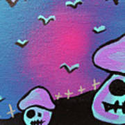 Two Zombie Mushrooms Print by Jera Sky