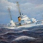 U. S. Coast Guard Cutter Sebago Takes A Roll Print by William H RaVell III