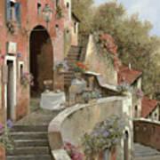 Un Caffe Al Fresco Sulla Salita Print by Guido Borelli