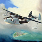 Uncle Bubba's Flying Boat Print by Marc Stewart