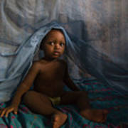 Under The Mosquito Net Print by Irene Abdou
