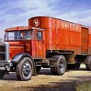 United Dairies Scammell. Print by Mike  Jeffries
