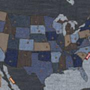United States Of Denim Print by Michael Tompsett