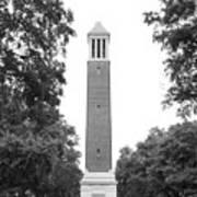 University Of Alabama Denny Chimes Print by University Icons