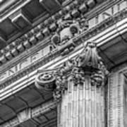 University Of Pennsylvania Column Detail Print by University Icons