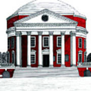 University Of Virginia Print by Frederic Kohli