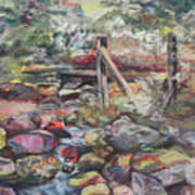 Unseated On Trout Brook Print by Alicia Drakiotes