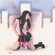 Urban Pixie Print by Kevin Clark