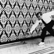 U.s. President Richard Nixon, Bowling Print by Everett