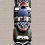 Vancouver Totem - 2 Print by Linda  Parker
