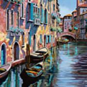 Venezia In Rosa Print by Guido Borelli