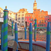 Venice Rialto Bridge Print by Heiko Koehrer-Wagner