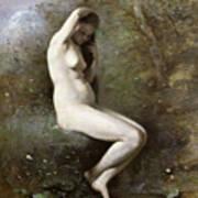 Venus Bathing Print by Jean Baptiste Camille Corot