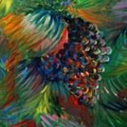 Vibrant Grapes Print by Nadine Rippelmeyer