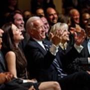 Vice President Joe Biden Flanked Print by Everett