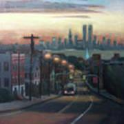 Victory Boulevard At Dawn Print by Sarah Yuster