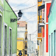 Viejo San Juan Print by Tom Dorsz