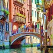 View From The Canal Print by Jeff Kolker