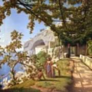 View Of Capri Print by Theodore Aligny