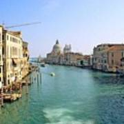 View Of Grand Canal In Venice From Accadamia Bridge Print by Michael Henderson