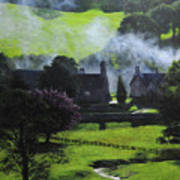 Village In North Wales Print by Harry Robertson