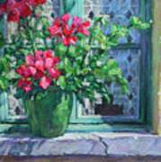 Village Welcome Giverny France Print by L Diane Johnson