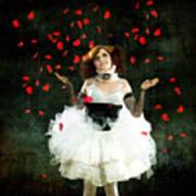 Vintage Dancer Series Raining Rose Petals  Print by Cindy Singleton