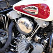 Vintage Harley V Twin Print by David Lee Thompson